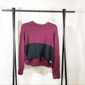 VS Pink Long Sleeve Crew Neck Snap Sleeve Size XS